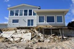 Destruction à la plage de Vilano, la Floride Image libre de droits