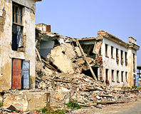 Destruction. Caused by an earthquake royalty free stock image