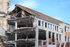 Destruction. Of a house in Munich royalty free stock photography