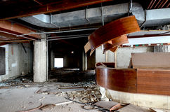 Destruction of an abandoned comercial building. Picture of a destruction of an abandoned comercial building Royalty Free Stock Photos