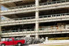 Destruction of a commercial building by hurricane Royalty Free Stock Images