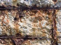 Destruction of a concrete wall Stock Photo