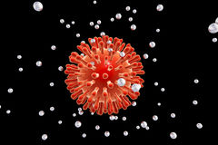 Destruction d'HIV par des nanoparticles Illustration Stock