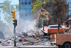 Destruction d'une vieille construction Images libres de droits