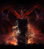 Destruction de diable Image stock