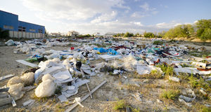 Destruction de l'environnement Image stock