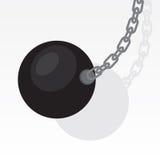 Destruction de l'oscillation de boule Images libres de droits