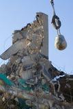Destruction de la boule et du bâtiment démoli Photos libres de droits
