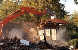 Destruction de maison Images libres de droits