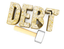 Destruction of debts Royalty Free Stock Image