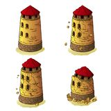 The destruction of the defensive tower Royalty Free Stock Images