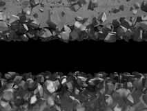 Destruction demolition concrete wall fragments of explosion Royalty Free Stock Photos
