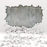 destruction du mur 3d illustration stock