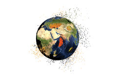 Destruction of the Earth. Global problems concept Stock Images