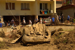 Destruction Flooding Bulgaria Royalty Free Stock Photos