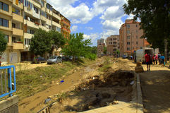 Destruction Flooding Bulgaria Royalty Free Stock Photography