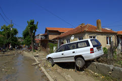 Destruction in flooding Varna Bulgaria Royalty Free Stock Photos