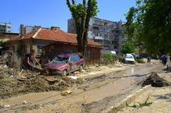 Destruction in flooding Varna Bulgaria Stock Photo