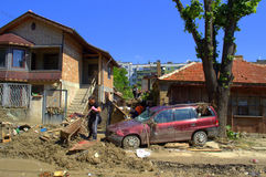 Destruction in flooding Varna Bulgaria Royalty Free Stock Image