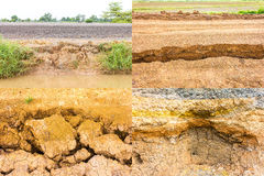 Destruction gravel road Stock Images