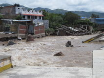 Destruction on the Huacapa River Stock Image