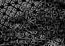Destruction of a lattice with an ornament on  small parts. Royalty Free Stock Photography