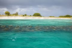 Shoreline Rebuilding With Artificial Reef, Antigua Royalty Free Stock Photos