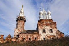 Destruction of Orthodox Church (restoration) Royalty Free Stock Photo