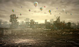 Destruction and pollution Stock Photography