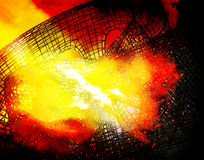 Destruction of structures in fire. Abstract background. Horizontal Stock Photos