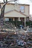 Destruction After Tornado Royalty Free Stock Image