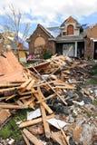 Destruction After Tornadoes Hit Saint Louis. SAINT LOUIS, MISSOURI - APRIL 26: Destroyed homes after tornadoes hit the Saint Louis area on Friday April 22, 2011 Stock Image