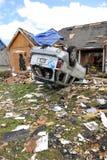 Destruction After Tornadoes Hit Saint Louis. SAINT LOUIS, MISSOURI - APRIL 26: Destroyed homes after tornadoes hit the Saint Louis area on Friday April 22, 2011 Royalty Free Stock Image