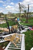 Destruction After Tornadoes Hit Saint Louis. SAINT LOUIS, MISSOURI - APRIL 26: Destroyed homes after tornadoes hit the Saint Louis area on Friday April 22, 2011 Royalty Free Stock Images