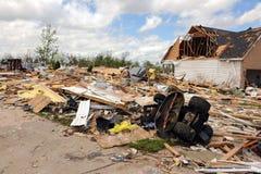 Destruction After Tornadoes Hit Saint Louis. SAINT LOUIS, MISSOURI - APRIL 26: Destroyed homes after tornadoes hit the Saint Louis area on Friday April 22, 2011 Stock Photography