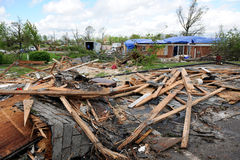 Destruction After Tornadoes Hit Saint Louis Royalty Free Stock Photography