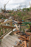 Destruction After Tornadoes Hit Saint Louis Stock Photo