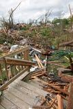 Destruction After Tornadoes Hit Saint Louis. SAINT LOUIS, MO – APRIL 22: Destruction left behind by tornadoes that ravaged the area. April 22, 2011 in Saint Stock Photo
