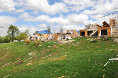 Destruction After Tornadoes Hit Saint Louis Stock Photography