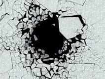 Destruction of wall. Danger. Derbis Stock Photography
