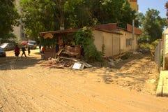 Destruction after flooding Bulgaria June 19 Stock Photos