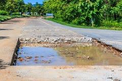 Destructive road Stock Images