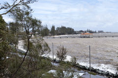 Destructive Storms. And king tide in Redcliffe Peninsula, South-East Queensland, on January 26-28, 2013 Stock Image