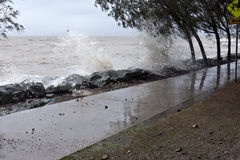 Destructive Storms. And king tide in Redcliffe Peninsula, South-East Queensland, on January 26-28, 2013 Stock Images