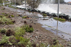 Destructive Storms. And king tide in Redcliffe Peninsula, South-East Queensland, on January 26-28, 2013 Stock Photo