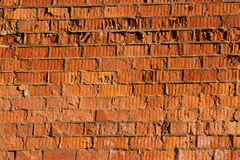 Destructive wall of red brick building Stock Photography