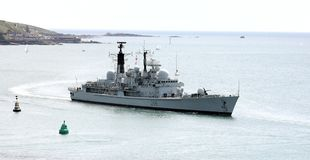 Destructor británico D96 HMS Gloucester Foto de archivo libre de regalías