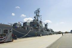 Destructor de la marina Fotos de archivo