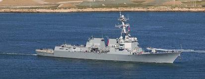Destructor de la marina de los E.E.U.U. Imágenes de archivo libres de regalías