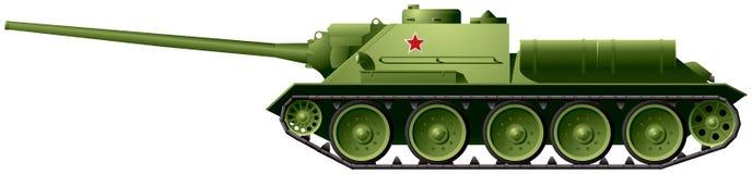 Destructor del tanque SU-100 Fotografía de archivo libre de regalías